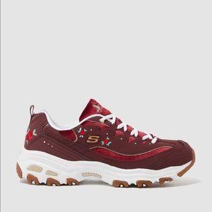 Skechers D'lites NEW Rose Blooms Sneakers Sz 8…